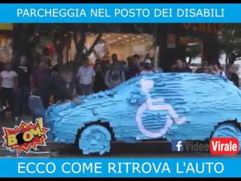 parcheggia l'auto sul posto per i disabili ma al suo ritorno....