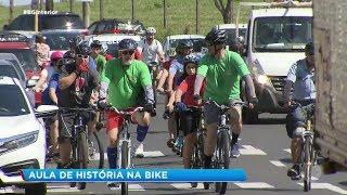Alunos aprendem história pedalando por Bauru