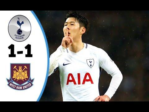 Tottenham vs West Ham 1-1 | All Goals & Highlights | Premier League - 04/01/2018 HD