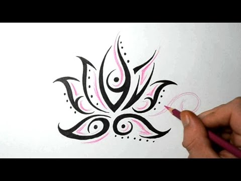 Lotus Flower Tattoos – Quick Design Sketch Idea