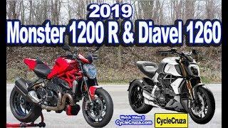 6. 2019 Ducati Monster 1200R & Ducati Diavel 1260 - FASTER!!