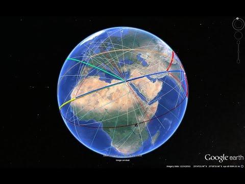 Secret Energy Lines of Earth explain Gods, Eye of Sahara, Petra, Pyramids, Nazca, Easter i.