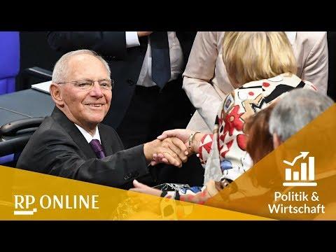 Bundestag: Wolfgang Schäuble ist neuer Bundestagspräsid ...