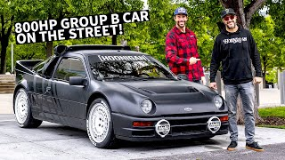 Video Ken Block's Ford RS200 Group B Rally Car on the Street, Meeting Up With Travis Pastrana! MP3, 3GP, MP4, WEBM, AVI, FLV Agustus 2019