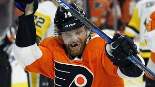 Flyers' Couturier gets five points, three goals on torn MCL by Sportsnet Canada