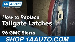 How to Install Replace Tailgate Latches 1988-1995 GMC Sierra K1500 Truck