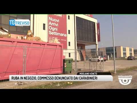 TG TREVISO (02/03/2019) - RUBA IN NEGOZIO, COMMESSO DENUNCIATO DAI CARABINIERI