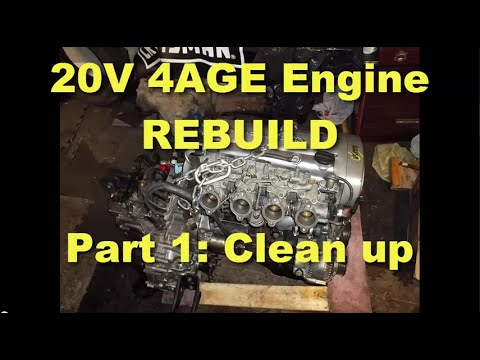 4age 20v - Part 1 of the video series on how to rebuild a Toyota 4AGE 20V silvertop engine. The first step after removing the engine from the car is to remove all the a...