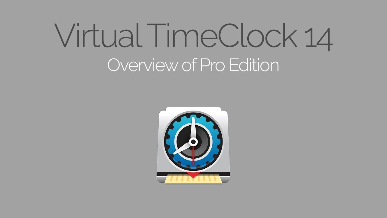 Virtual TimeClock Pro Edition