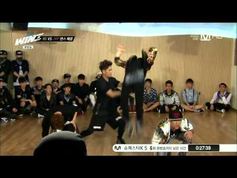 JYP - 130913 JYP Dance Team (Yugyeom (유겸), BamBam, Mark, Jackson) - Caught Up @ WIN JYP's dance team, consisting of two 17-year old members and two 20-year-old mem...