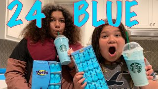 Video 24 HOURS EATING ONLY BLUE FOOD CHALLENGE MP3, 3GP, MP4, WEBM, AVI, FLV Juni 2019
