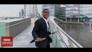 Pharrell Williams 'Happy' (BBC Breakfast version) - BBC News