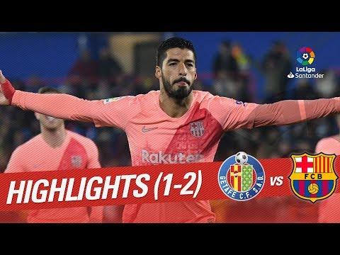 FC Getafe Madrid 1-2 FC Barcelona