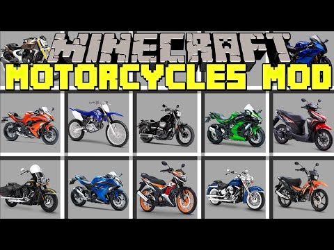 Minecraft MOTORCYCLES MOD L DRIVE 50 DIFFERENT MOTORCYCLES! L Modded Mini-Game