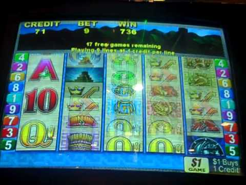 $9 bet Sun and Moon Slot Machine Bonus BIG BIG WIN!!!!
