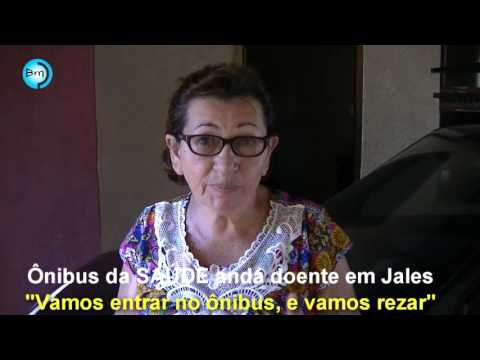 Jales - Ônibus da saúde anda doente em Jales,