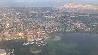 Here is us flying into Tampa after visiting family. Flew over St. Petersburg, and you can see my old base Macdill AFB as we go by.