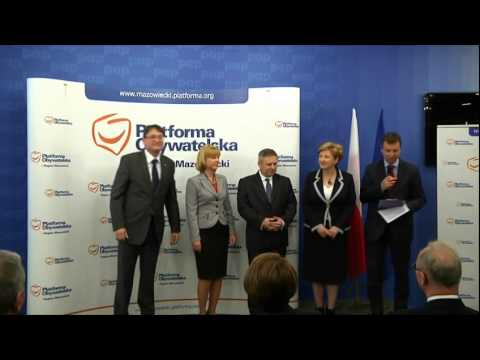 Prezentacja kandydatów PO Mazowsze - okręg nr 5