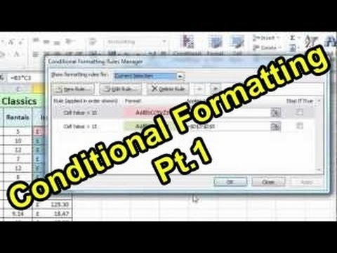 Excel 2010 Tutorial For Beginners #8 – Conditional Formatting Pt.1 (Microsoft Excel)