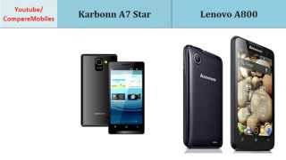 Karbonn A7 Star vs Lenovo A800, Details comparison : A7 Star  - A800, Full Specifications :  Dual-core, 1 GHz, 480 x 854 pixels, 4.5 inches, Dual-core, 1.2 GHz Cortex-A9, 480 x 854 pixels, 4.5 inches, 3G, LTE, GPU, Screen Resolution, Video, Card slot and others...