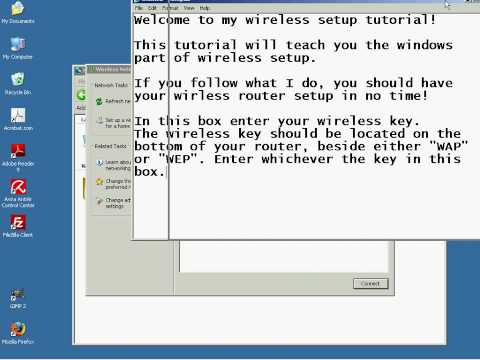 Setup Wireless Internet Connection Windows Xp