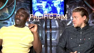 Idris Elba&Charlie Hunnam Interview - Pacific Rim (JoBlo.com)