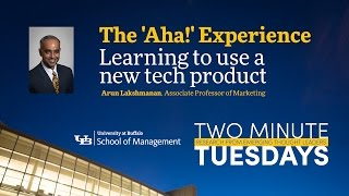 "YouTube video highlighting School of Management faculty research on the ""a-ha"" experience."