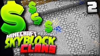 EPIC COBBLE FARM!   Minecraft SKYCLANS (Skyblock + Factions)