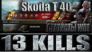 Video Škoda T 40 13 ФРАГОВ. СТАТИСТЫ World of Tanks. Лайв Окс - лучший бой Škoda T 40 WoT. MP3, 3GP, MP4, WEBM, AVI, FLV Juni 2018