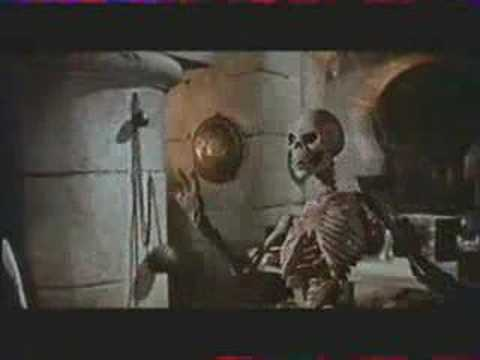 skeleton - Sinbad is fighting against an animated skeleton, from