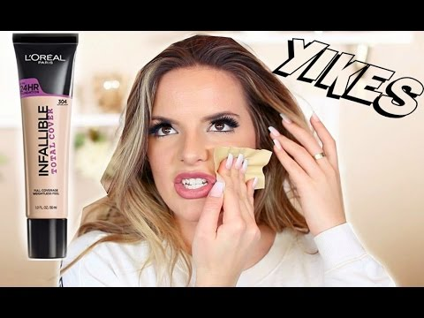 Download L'OREAL Infallible TOTAL COVERAGE 24 HR Foundation Review & Wear Test | Casey Holmes HD Mp4 3GP Video and MP3