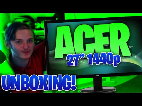 Acer K272HUL 27 Inch 1440p Unboxing - Acer K272HULbmiidp 27-inch WQHD FIRST LOOKS AND UNBOXING!