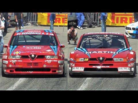 Уникальное зрелище: на трек вывели гоночные Alfa Romeo 155 GTA и DTM