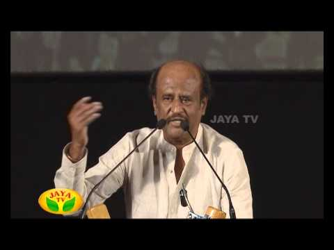 Speech By Super Star Rajinikanth In Kochadaiyaan Audio Launch 23 April 2014 02 PM