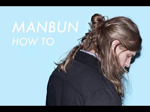 Mens hairstyles - Hairstyles for Men with Long Hair // Man Bun Tutorial // Easy Men's Hair HALF UP HALF DOWN tutorial