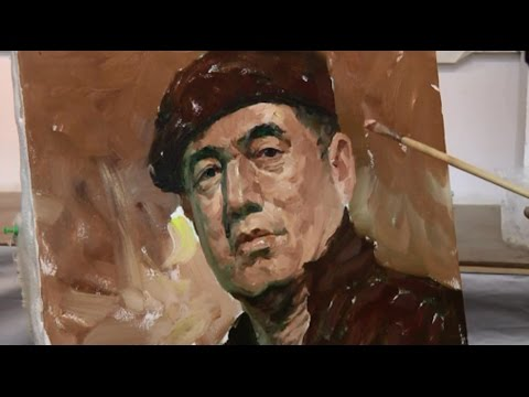 Oil portrait painting of a man by Master Artist