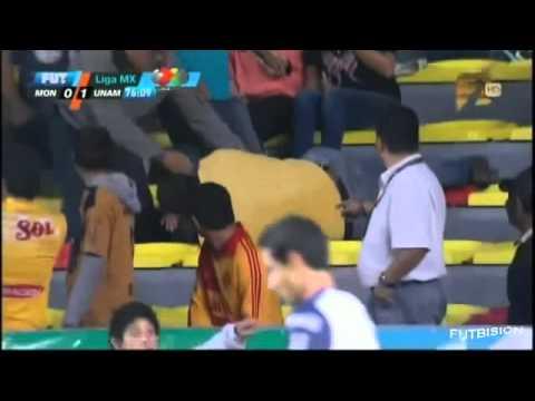 Caida de Aficionado en Futbol mexicano