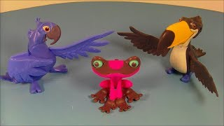 2014 BLUE SKY'S RIO 2 SET OF 3 JOLLIBEE KID'S MEAL MOVIE TOY'S VIDEO REVIEW