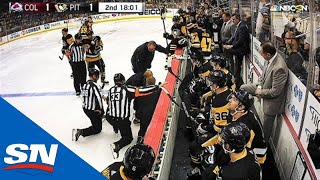 NHL Linesman Michel Cormier Loses Balance, Takes Scary Fall Into Boards by Sportsnet Canada