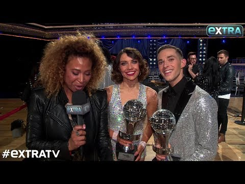 Adam Rippon and Jenna Johnson Celebrate Their 'DWTS: Athletes' Win!
