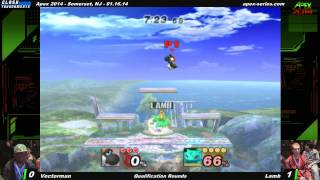Apex 2014 – Vectorman vs Lamb – Project M (some pretty cool Yoshi play.)