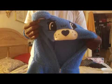 Men's Care Bear | Grumpy Bear Hooded Union Suit