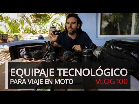 Equipaje tecnológico para viaje en moto. Vlog #100