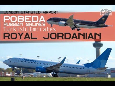 Самолет Видео Pobeda Airlines в Лондоне (Аэрофлот)