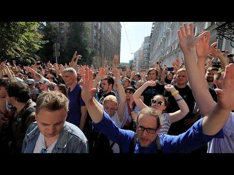 Συλλήψεις εκατοντάδων διαδηλωτών στη Μόσχα καταγγέλει η αντιπολίτευση…