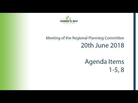 Meeting of the Regional Planning Committee - 20th June 2018 - Morning Session (видео)