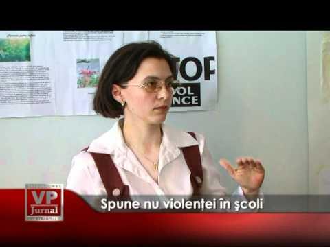 Spune nu violenţei în şcoli