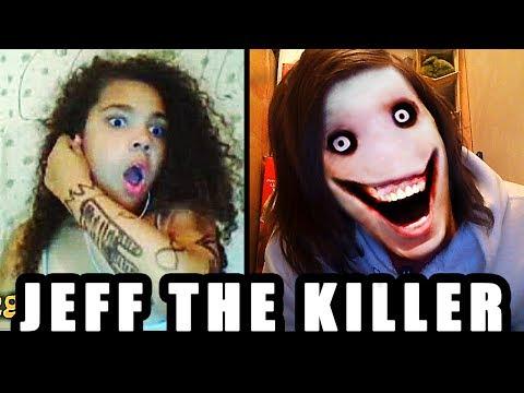 "JEFF the KILLER ""GO TO SLEEP!!!"" : OMEGLE SCARE PRANK"