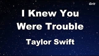 Video I Knew You Were Trouble - Taylor Swift Karaoke【With Guide Melody】 MP3, 3GP, MP4, WEBM, AVI, FLV Agustus 2018
