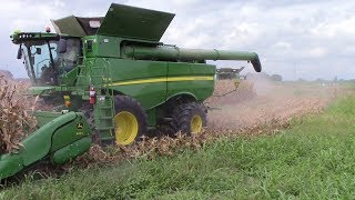 Video 2,800 Acre Corn Field Harvested by 5 John Deere S690 Combines MP3, 3GP, MP4, WEBM, AVI, FLV November 2017